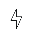 drone icon lightning