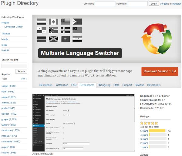 چگونه وردپرس خود را چند زبانه کنیم Language Switcher