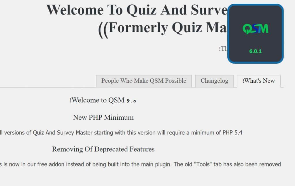 افزونه Quiz Master Next