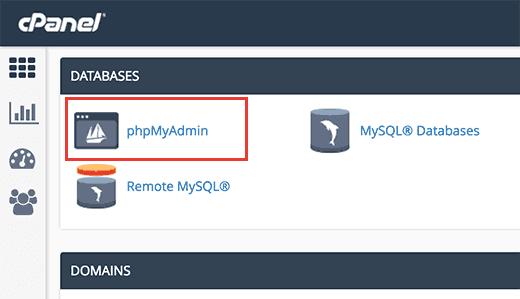 غیرفعال کردن افزونهها از طریقphpMyAdmin