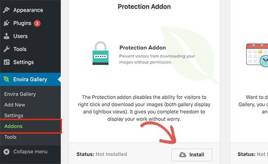 نصب protection